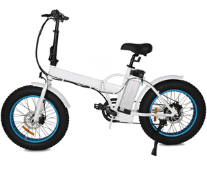 FATBIKE20 fat tire fold electric bike white frame