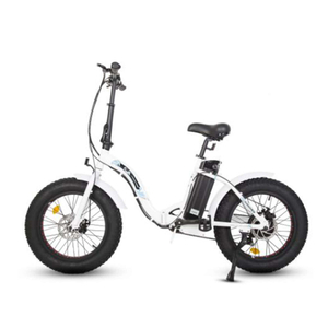 DOLPHIN20 Fat Tire Foldable Ebike-white Frame